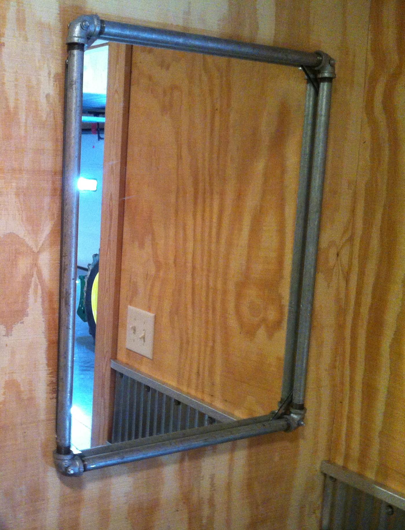 Galvanized Pipe Mirror Frame Heman Tools Llc